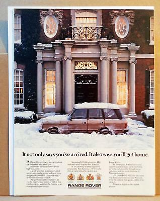 1987 Range Rover Classic 'You'll Get Home' Snow Rugged Practical Photo Print AD