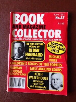 BOOK AND MAGAZINE COLLECTOR - June 1991 - No 87, RIDER HAGGARD Bibliography