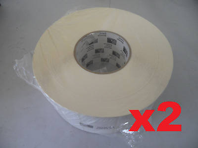 """Lot of 2 Zebra PolyPro 2000 Barcode Thermal Label 3""""x1"""" 05265 4,350 Labels/Roll"""
