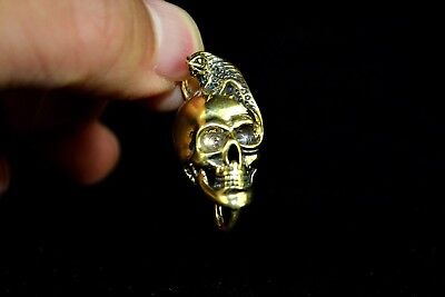 Chinese Ancient Old Collectible Rare Handwork Copper Dark Knight Amulet Pendant