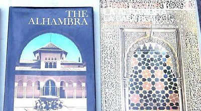 4 Photogravures, 2 Books on  Alhambra Fortress Palace Granada Islamic etc Spain
