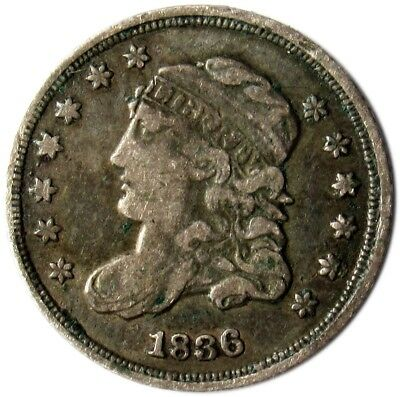 1836 Capped Bust Half Dime - VF - 5c Silver - Very Fine