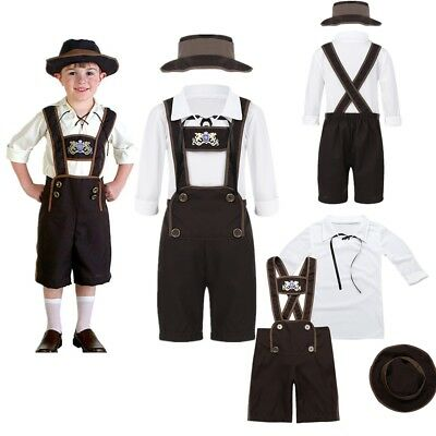 Mens Green White Bavarian Guy German Lederhosen Beer Oktoberfest Costume M-XL