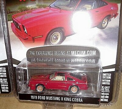 Greenlight 2018 1/64 1978 Ford Mustang Ii King Cobra Red Mecum Auctions S2 New