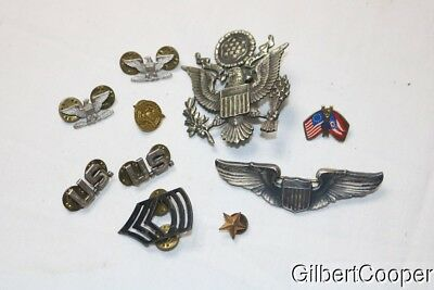 Group Of Ww2 Pins/wings - Local Estate Purchase