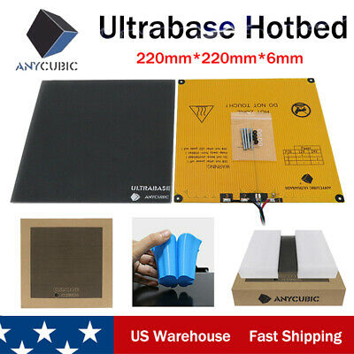ANYCUBIC 220x220mm Ultrabase Heatbed 3D Printer Platform Glass Build US Stock