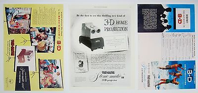 Copies of Historical Advertisements Stereo-Matic 500 View-Master 3-D Projector