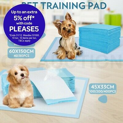 Multi Size Indoor Cat Pet Dog Puppy Training Pads Toilet Super Absorbent Dogs