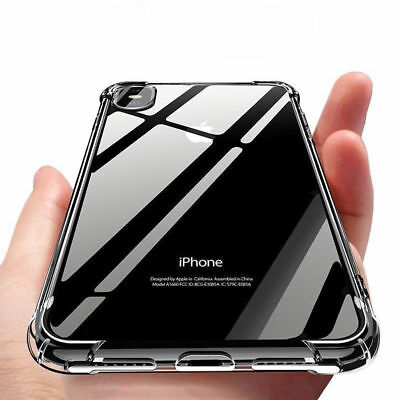 For iPhone XR XS Max Airbag Shockproof Crystal Soft Case Clear Slim TPU Cover