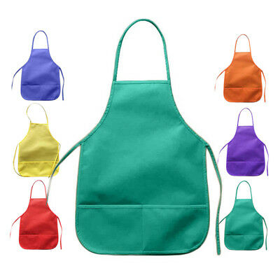 Children's Apron Kids Plain Apron Kitchen Cooking Baking Child Crafts Painting