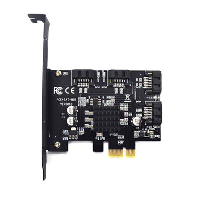 PCI-E PCIe 1x To 4-Port Sata 3.0 6G Expansion Controller Card Marvell 88SE9215