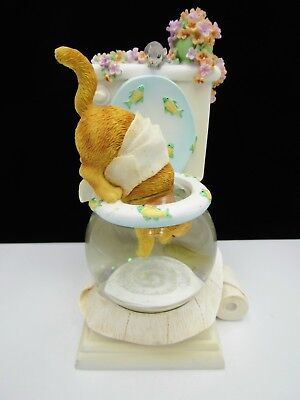 The San Francisco Music Box Company Cat Drinking From Toilet My Favorite Things