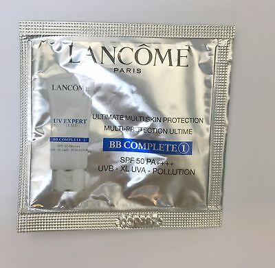 2pcs Lancome Ultimate Multi Skin Protection BB Complete1 SPF50 PA++++ 1ml Sample