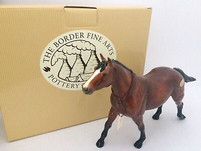 Border Fine Arts Pottery Company Thoroughbred Horse A6727 Boxed