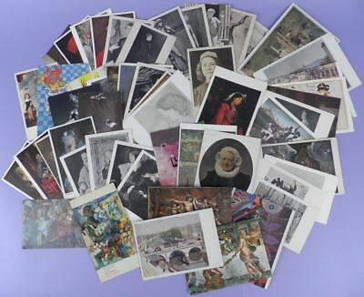 Collection of 50 Vintage Art Related Postcards