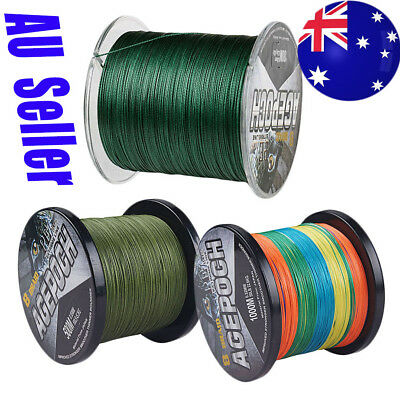 AU Braid Agepoch 8 Strand 300M-1000M 10LB-300LB pe Dyneema Braided Fishing Line