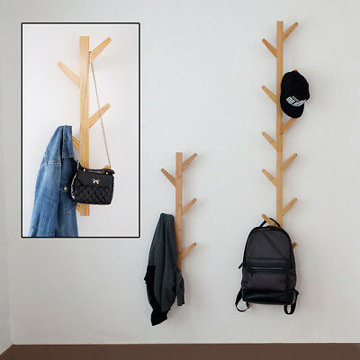 Bamboo Coat Stand Coat/Hat/Jacket/Umbrella Floor Standing Rack Hanger Hook Gift