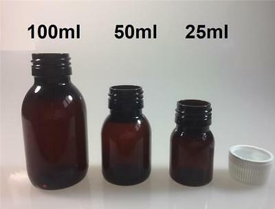 GLOSSY AMBER PET BOTTLE COSMETIC AROMATHERAPY PHARMACEUTICAL 25-50-100-200-250ml