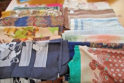Collection / Job Lot Ladies Vintage Scarves. 14 In Total.