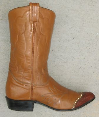 3dced404e53 TONY LAMA VINTAGE Womens Western Cowboy Boots Sz 6 B Black Label Brown  Leather