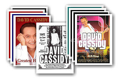 DAVID CASSIDY  - 10 promotional posters - collectable postcard set # 2
