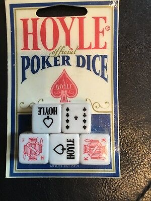 Vintage Hoyle Cards Professional Official Poker Dice 5 Piece Game NEW SEALED