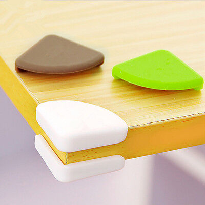 4pcs White/Green Child Baby Safe Silicone Protector Table Corner Edge Cover Z