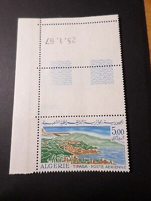 ALGERIE 1967/68, timbre POSTE AERIENNE 17 neuf**, AVION, VF AIRMAIL MNH STAMP