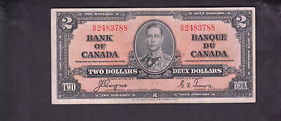 1937 Canada 2 Dollars Bank Note Coyne