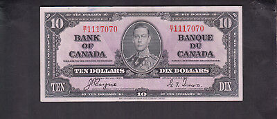 1937 Canada 10 Dollars Bank Note Coyne