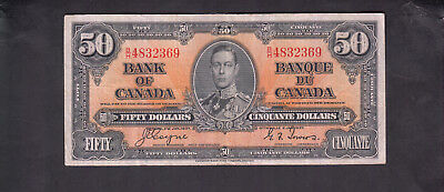 1937 Canada 50 Dollars Bank Note