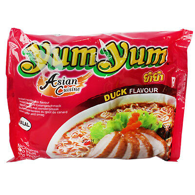 30x60g Yum Yum Ente Instantnudeln Instant Nudelsuppe Duck Asia Nudelsuppe