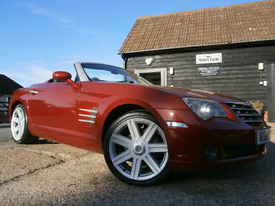04Pp Chrysler Crossfire 3.2 Automatic Roadster 73K Fsh Satin Red Met/leather Htd