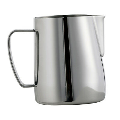 Barista Milk Frother Pitcher Stainless Steel Cup Frothing Steaming Silver