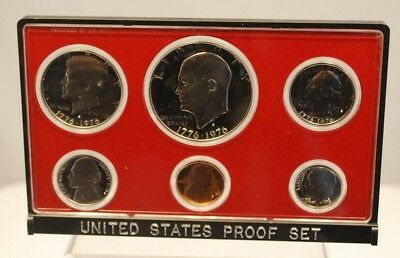 1975 US Mint 6 Coin Proof Set w/ Original Box - Free Shipping