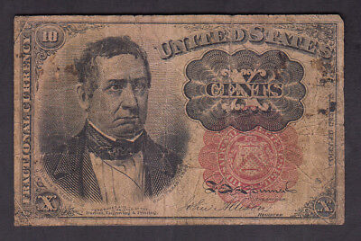 1874 Usa 10 Cents Bank Note