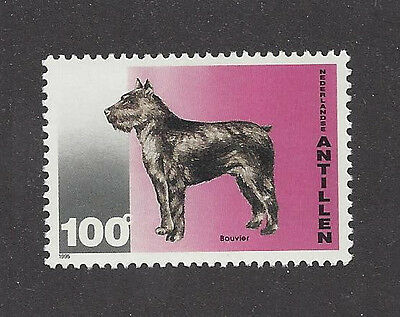 Dog Art Body Study Postage Stamp BOUVIER DES FLANDRES Netherlands Antilles MNH