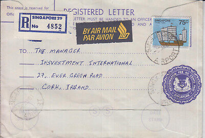 R-Letter, 1981, From Singapore to Cork in Ireland, in good condition