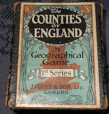 Antique Playing Cards -- JOHN JAQUES COUNTIES OF ENGLAND 1st SERIES 48/48 cards
