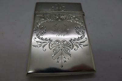 Gorham 1875 Sterling Silver Aesthetic Card Case Box INCREDIBLE MUST SEE ESTATE