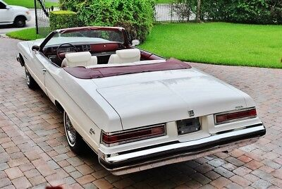 Buick Lasabre Custom Convertible Absolutely Gorgeous 75 Buick Lesabre Convertible Air Conditioning Triple White w/ Red Dash & Carpets