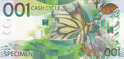 001 Cash Cycle Aunc Test Note From Kba Giori From Switzerland 2001!beauty