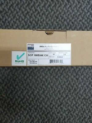 New Sola Power Supply SCP100S24X-CM 24VDC 3.8A 95W