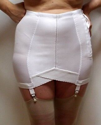 "Extra-Small 12"" Long Open Girdle Vintage NEW Zipper-Closure 4 Garters Crownette"