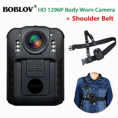 HD1296P Security Police Body Worn Camera Recorder with Shoulder Belt Chest Strap