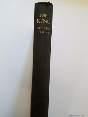 The RING 1931-32 Bound Volume Boxing Magazine 15 issues October - December