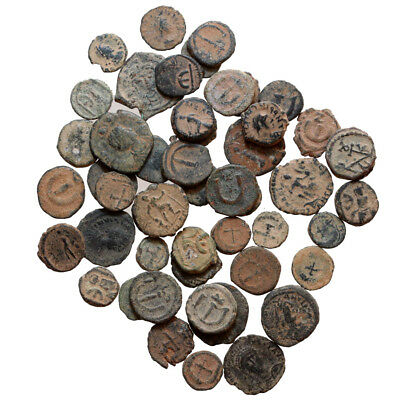 Top Lot Of 50 Late Roman Ae 4 & Byzantine Pendanummium Bronze Coins