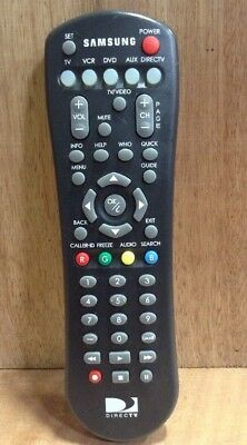 Samsung Direct TV Replacement Remote Black Infrared STF722 Tested Free Ship