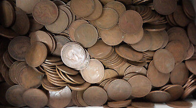 #5. About 4.5  Kilograms Australian Kangaroo Design Penny Coins, About 470