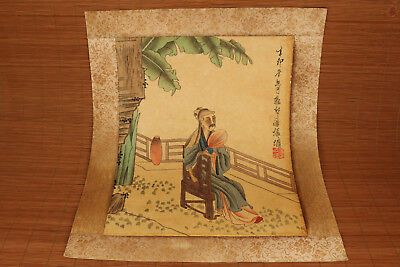 Chinese famous Handwork hand painting panzhenyong old art collectible Scrolls